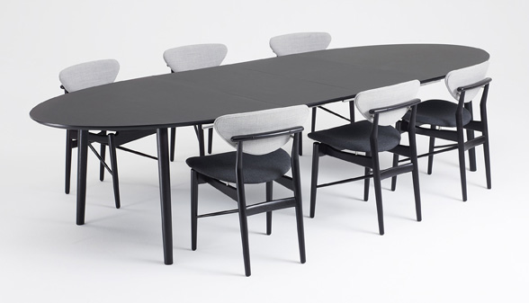 Part of ONE BLACK COLLECTION are the dining room chair designed by Finn Juhl  model 108 from 1946  the Shaker chair and table designed by S ren Holst and  an  onecollection. Finn Juhl Chair 108. Home Design Ideas