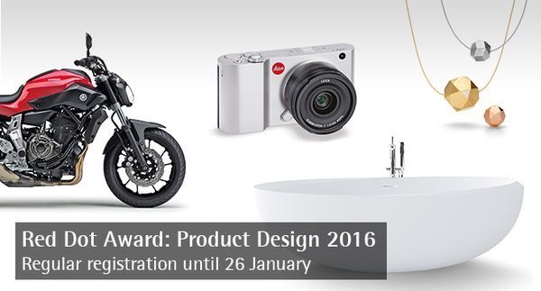 Regular registration phase for the Red Dot Award: Product Design 2016 starts