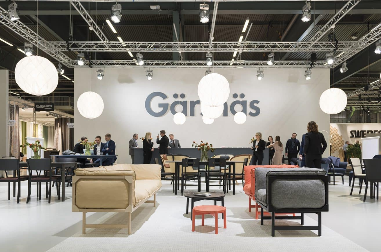 David Regestam has designed the Gärsnäs stand 2017
