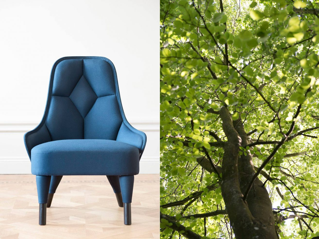 Armchair Emma has been added to the Green List - designed by Färg & Blanche