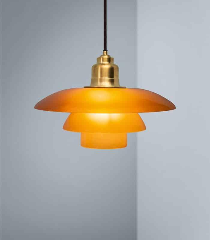 PH 3½ 3 Amber Coloured Glass Pendant – Louis Poulsen