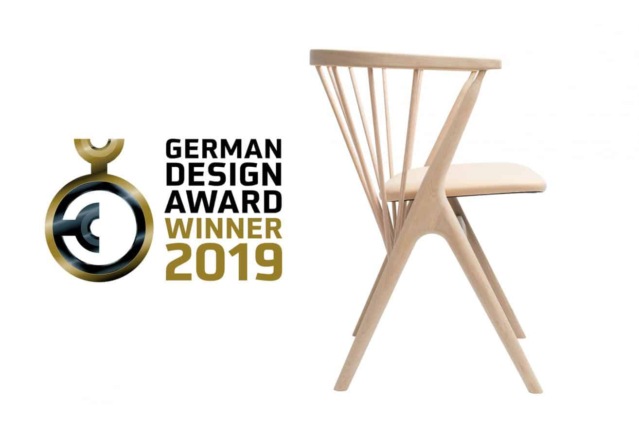 The Sibast No 8 chair - winner of German Design Awards 2019