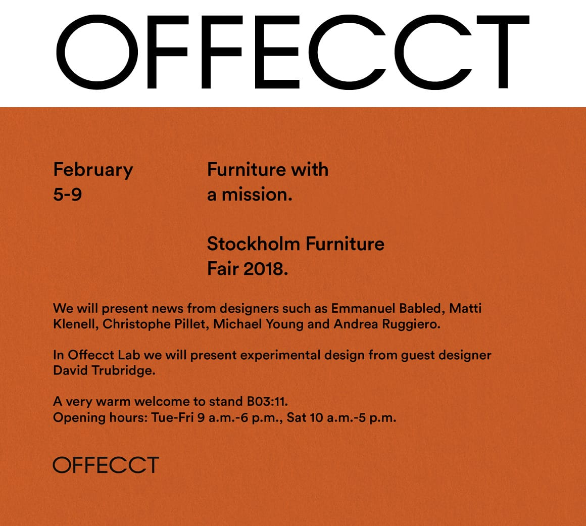 Offecct @ Stockholm Furniture Fair 2019