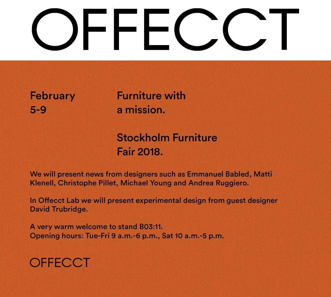 Offecct @ Stockholm Furniture Fair 2019