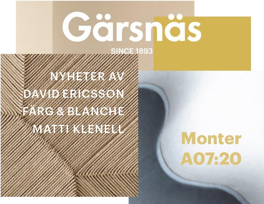 Gärsnäs @ Stockholm Furniture Fair 2019