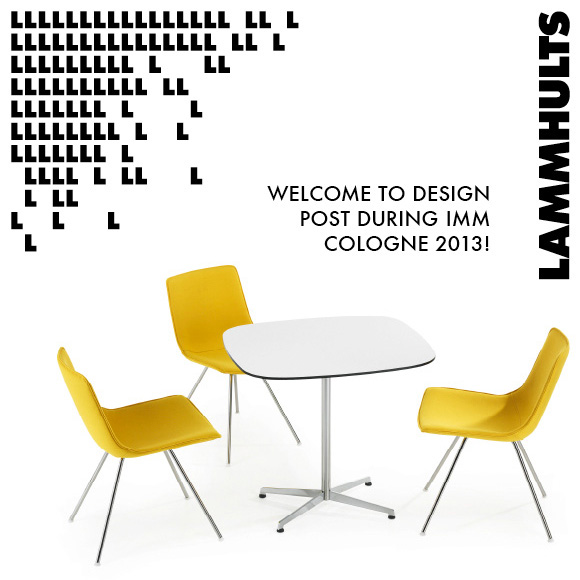 welcome to design post during imm cologne lammhults scandinavian design. Black Bedroom Furniture Sets. Home Design Ideas