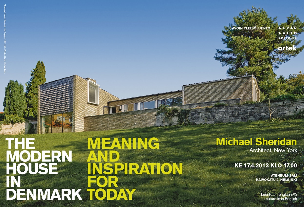 Aalto academys lecture the modern house in denmark